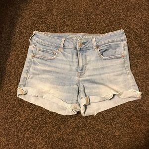 American eagle midi denim shorts size 10
